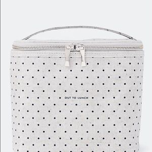 Brand New Kate Spade Insulated Polka Dot Lunch Box